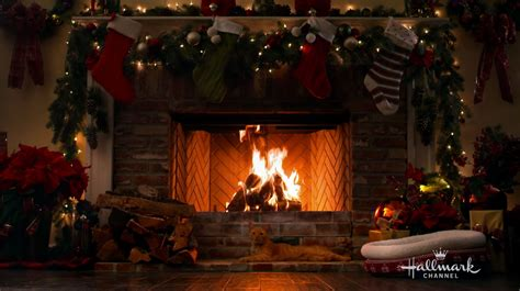 Yuletide Fireplace Channel by Happy The Cat The Yule Log Hallmark