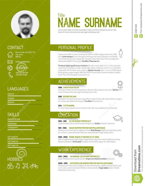 Best Resume Templates Etsy by Best 25 Curriculum Vitae Template Ideas Only On Pinterest