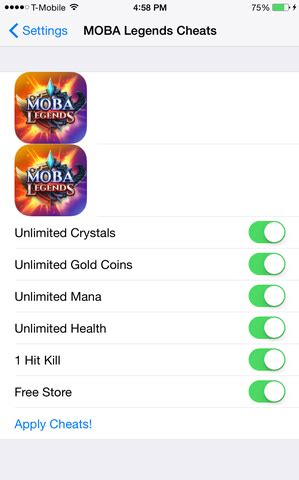 download moba legends cheats files best tools for ios