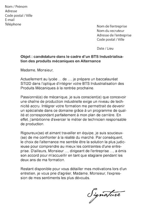 Lettre De Motivation De Bts Communication Lettre De Motivation Bts Ipm Alternance Mod 232 Le De Lettre