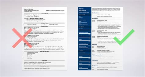 personal trainer resume examples sample best template collection 8