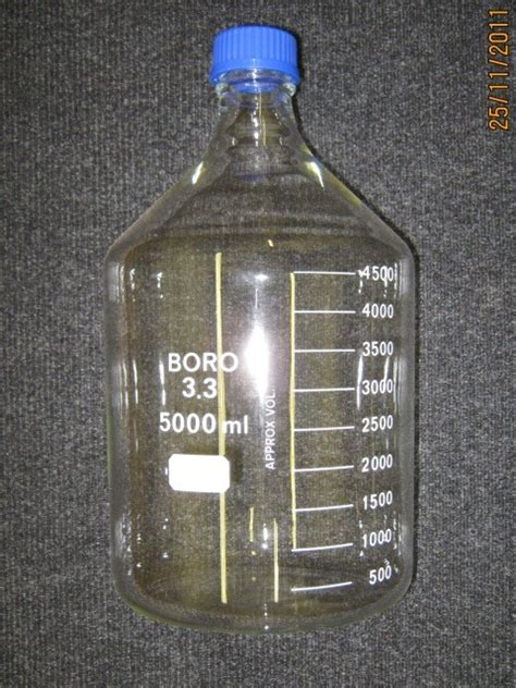 Laboratory Bottles 5000ml Duran German 5 litre 5000ml graduated glass reagent bottle schott duran