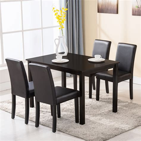 kitchen and dining room chairs 5 dining table set 4 chairs wood kitchen dinette room breakfast furniture ebay