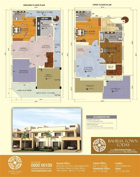 240 Yard Home Design floor plan of 200 square yards bahria homes bahria town