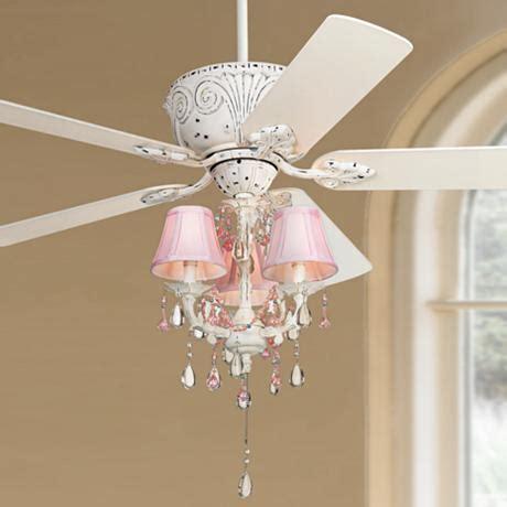 Casa Deville Pretty In Pink Pull Chain Ceiling Fan Fans With Chandeliers