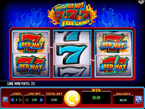 triple red hot   games casinojager