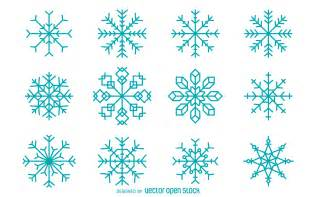 geometric snowflake collection free vector