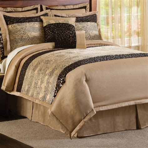 8pc sahara lush animal print comforter set king