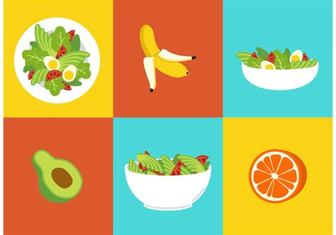 Healthy Diet Food Vectors Free Vector