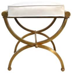 empire vanity stool by charles hollis jones traditional