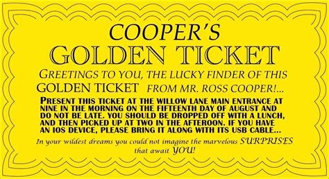 Printable Editable Printable Wonka Golden Ticket Free Golden Ticket Template Editable