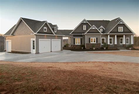 house plans with 2 separate attached garages detached garage with breezeway dream home pinterest