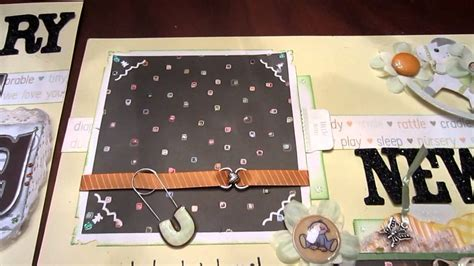 layout youtube game boy beary big news 2 page baby tear bear scrapbooking layout