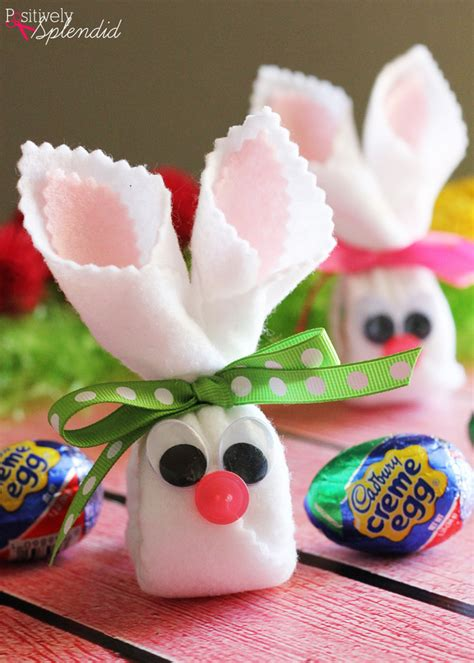 easter projects easter craft idea cadbury creme egg bunnies easter