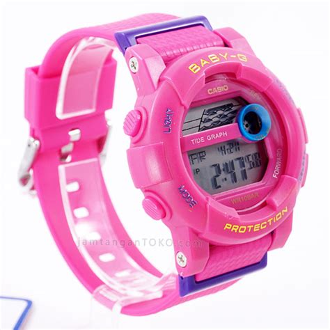 Jam Tangan Baby G Digital Pink gambar baby g digital bgd 180 all pink bagian sing 2