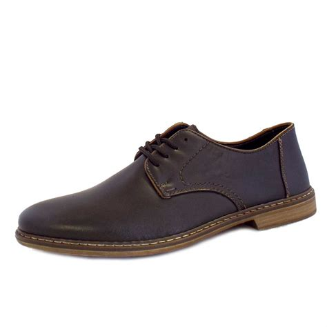 leather shoes rieker shoes clarino mens lace up smart shoes in black leather
