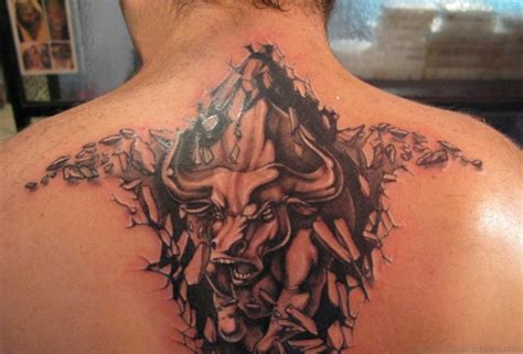 bulls tattoo 47 stylish taurus tattoos for back