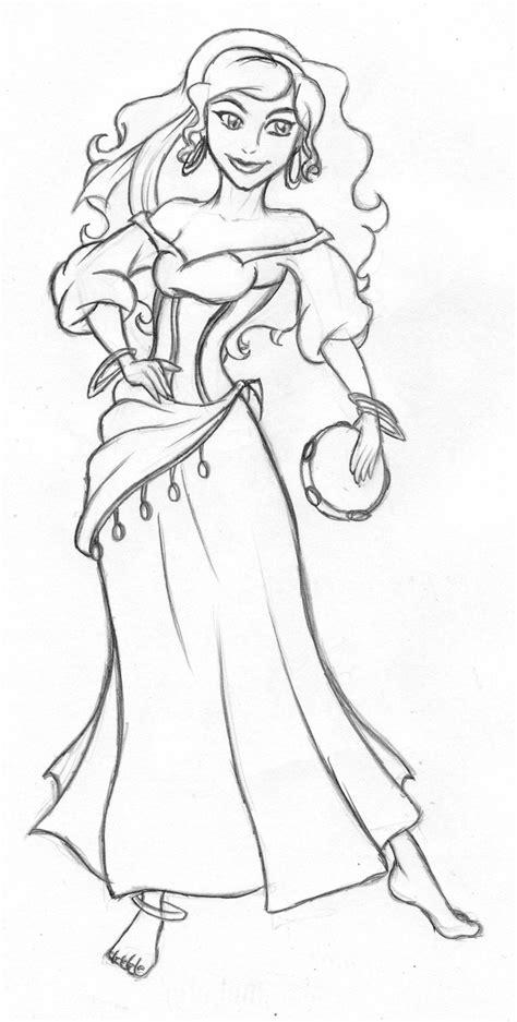 princess esmeralda coloring pages disney esmerelda sketch by on deviantart