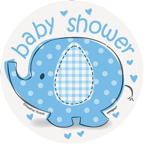 Blue Elephant Baby Shower mini blue elephant baby shower cut out decorations 8pk