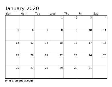 printable calendar  monthly calendar template