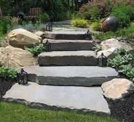 escalier en et marches dans le jardin d 233 co et