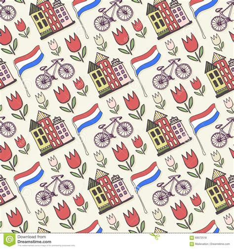 pattern design netherlands holland doodles vector background netherlands seamless