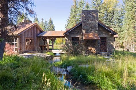 Small Homes Jackson Wyoming Creeks Rustic Landscape Other By Jlf Design Build
