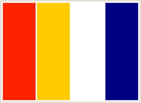 yellow and blue color schemes colorcombo106 with hex colors ff2400 ffcc00 ffffff 000084
