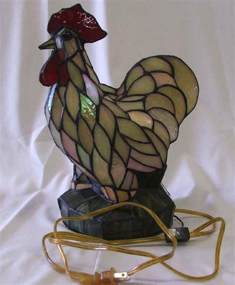 stained glass rooster l 1063c stained glass rooster l 13 5 h lot 1063c