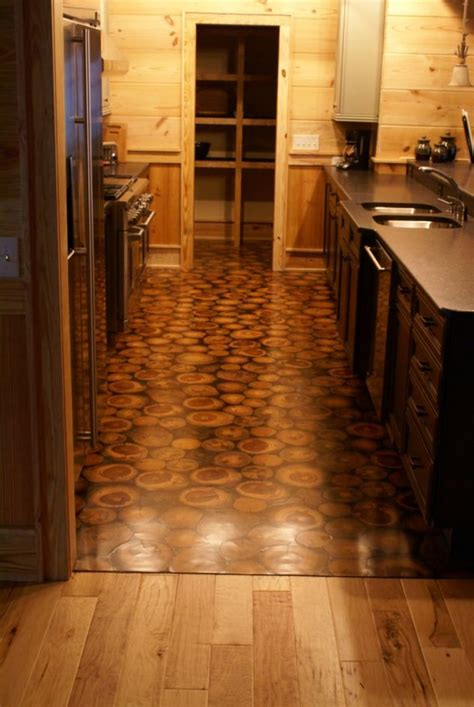 cord wood flooring ideas you will feel calm walking on