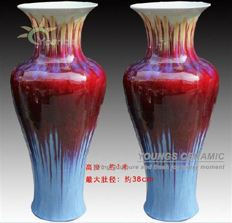 large china porcelain floor vase for indoor home