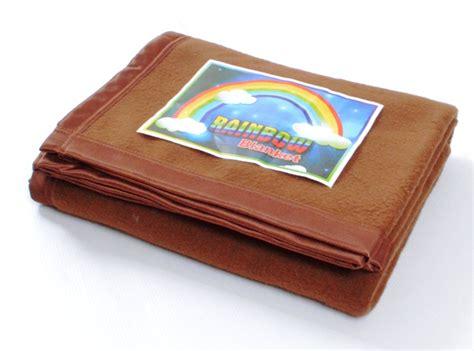 Arins Rainbow Biru Tua Mukena selimut rainbow coklat tua grosir selimut murah