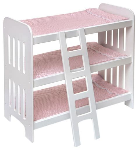 Doll Bunk Beds With Ladder And Storage Armoire by Badger Basket Co Doll Bunk Bed With Ladder And