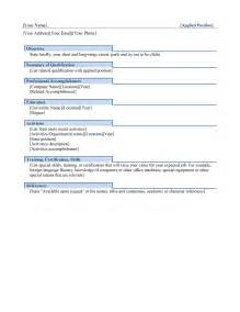Functional Resume Template Word 2003 by Free Microsoft Resume Templates 2011