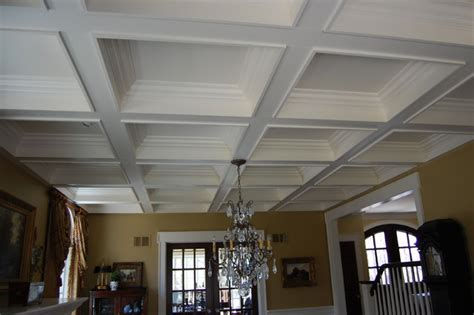 Painting Coffered Ceilings by Painted Coffered Ceiling