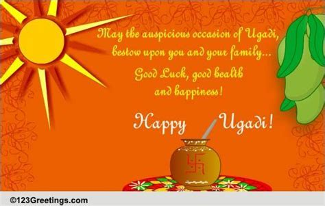 Good Luck And Happiness  Free Ugadi eCards, Greeting