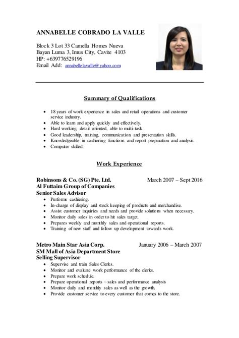 strong resume profile statements customer best free