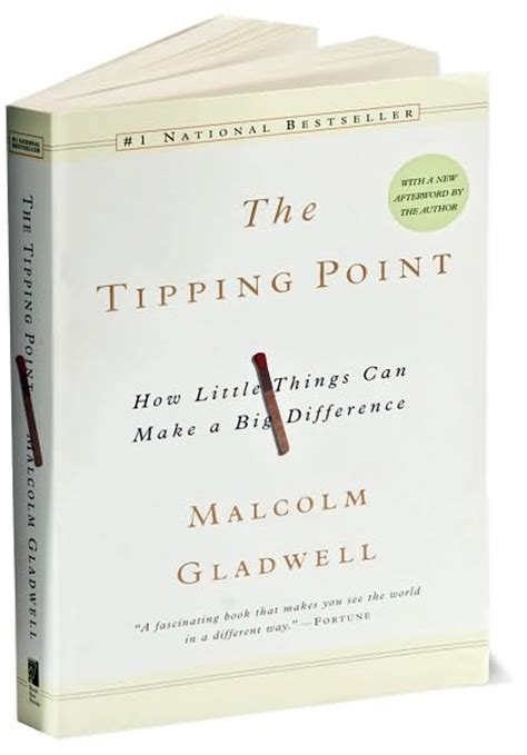 More On Monday The Tipping Point By Malcolm Gladwell by Malcolm Gladwell