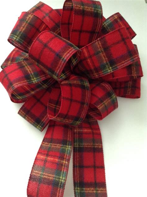 fancy bows for tree top tree topper plaid tree topper