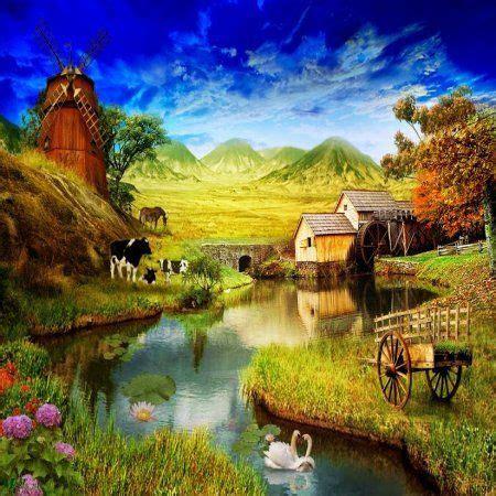 imagenes no realistas de paisajes pinturas hermosas de paisajes naturales imagenes para