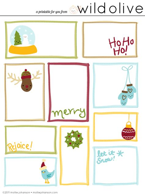 printable gift labels free wild olive print christmas gift tags
