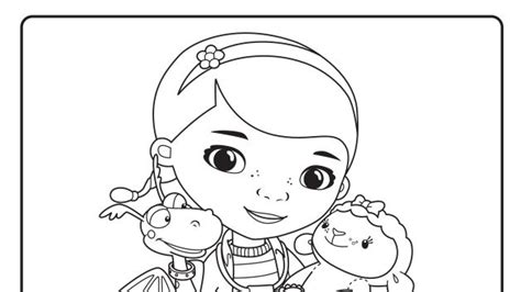 doc mcstuffins coloring pages disney junior doc and friends printable coloring page coloring book