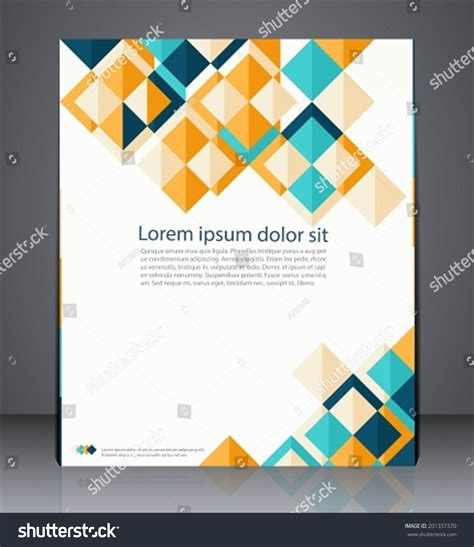 Vector Layout Business Flyer Magazine Cover Stock Vector 201337370 Shutterstock Geometric Design Templates