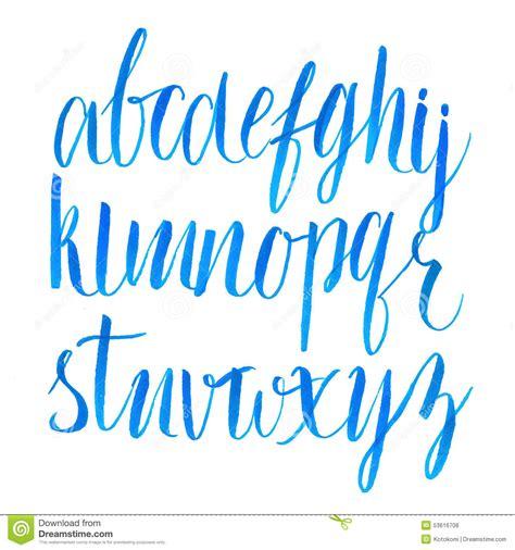 typography vector brush script font vector type stock vector