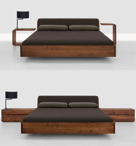 Modern Wood Bed Frames Solid Wood Beds Fusion Bed With Upholstered Headboard By Zeitraum Wooden Beds Sweet Dreams