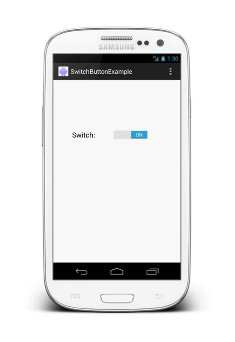 Android Button by Android Switch Button Exle Panayiotis Georgiou