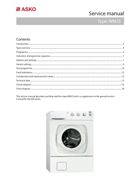 asko washing machine wiring diagram free wiring