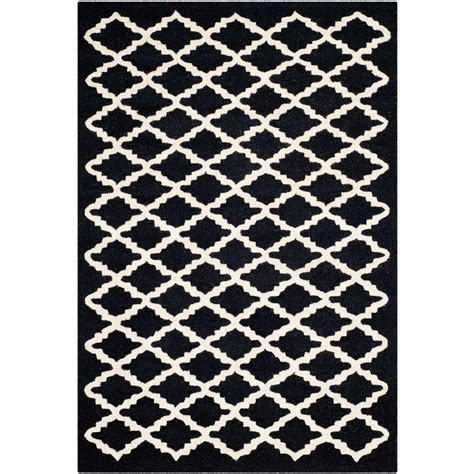 Safavieh Cambridge Black Area Rug Safavieh Cambridge Black Ivory 6 Ft X 9 Ft Area Rug