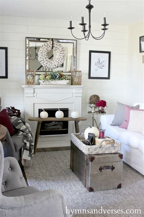 gray and plum living room decor to adore a lovely collection of fall home tours