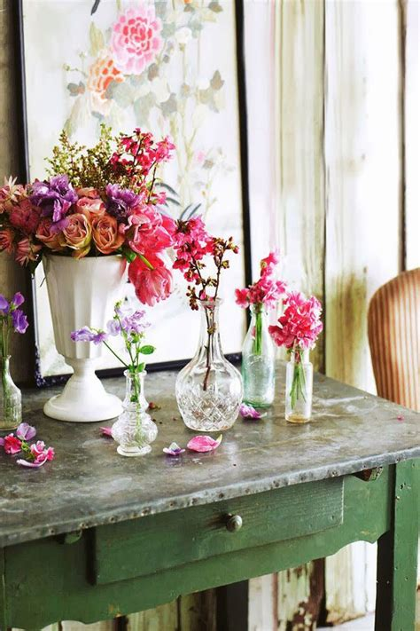 shabby chic flower arrangement flowers pinterest